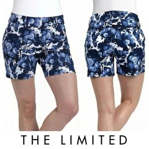 The Limited Blue Floral Print Tailored Shorts